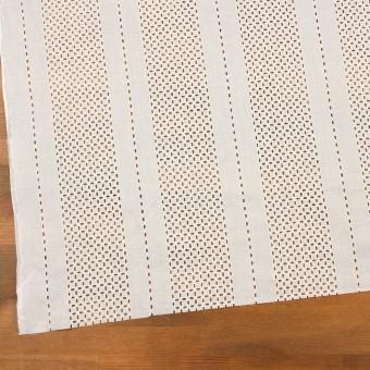コットン×ストライプ(オフホワイト)×ローン刺繍_全2色 サムネイル2