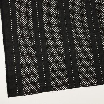 コットン×ストライプ(ブラック)×ローン刺繍_全2色 サムネイル2