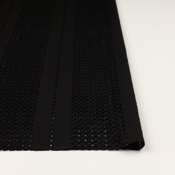 コットン×ストライプ(ブラック)×ローン刺繍_全2色 イメージ3