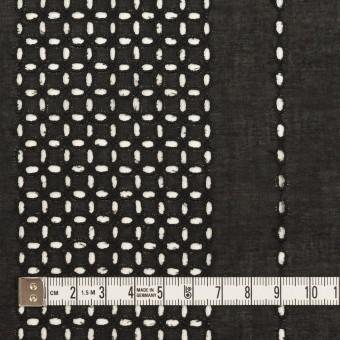 コットン×ストライプ(ブラック)×ローン刺繍_全2色 サムネイル4
