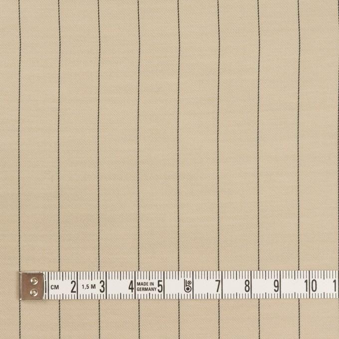キュプラ&テンセル混×ストライプ(グレイッシュカーキ)×サージ イメージ4