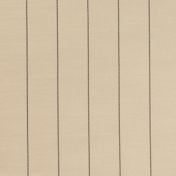 キュプラ&テンセル混×ストライプ(グレイッシュカーキ)×サージ イメージ1
