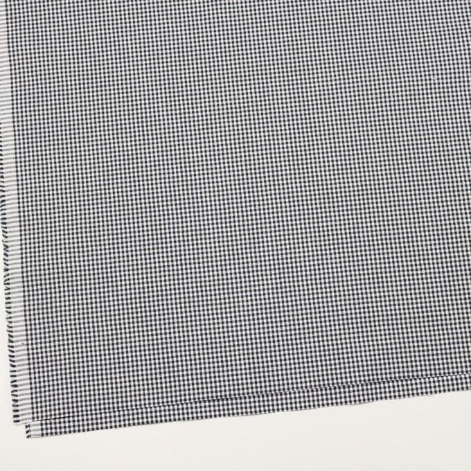 コットン&ポリウレタン×チェック(ダークネイビー)×ポプリンストレッチ イメージ2