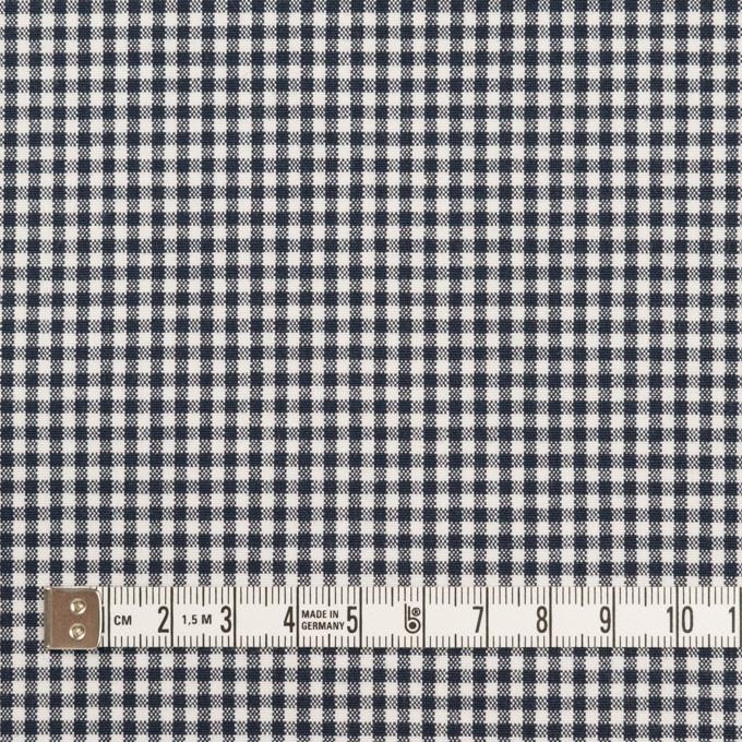 コットン&ポリウレタン×チェック(ダークネイビー)×ポプリンストレッチ イメージ4