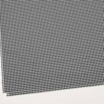 ナイロン&コットン混×チェック(ブラック)×ブロードサッカー・ストレッチ サムネイル2