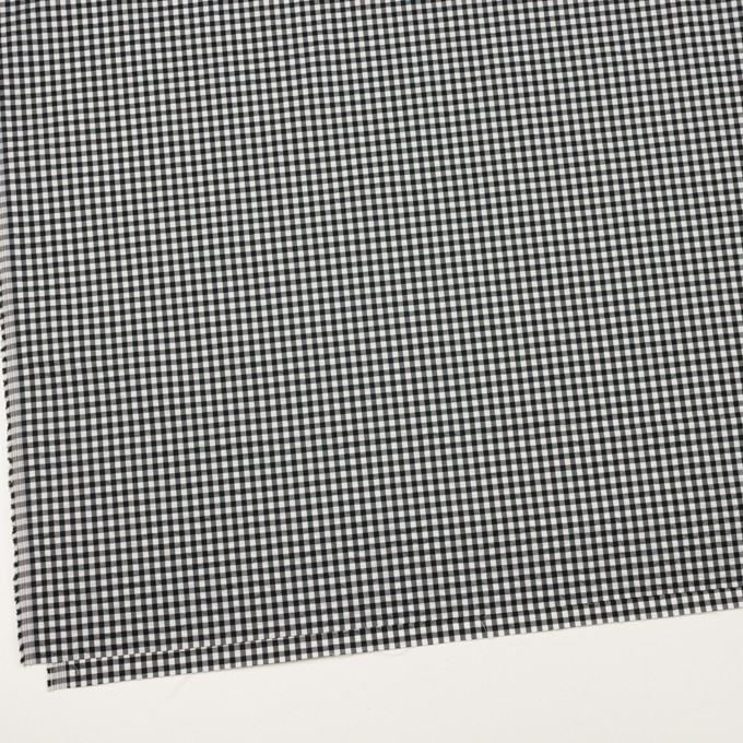 ナイロン&コットン混×チェック(ブラック)×ブロードサッカー・ストレッチ イメージ2