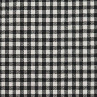 ナイロン&コットン混×チェック(ブラック)×ブロードサッカー・ストレッチ