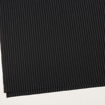 コットン&リネン混×ストライプ(ブラック)×ポプリンストレッチ サムネイル2