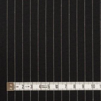 コットン&リネン混×ストライプ(ブラック)×ポプリンストレッチ サムネイル4