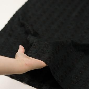 コットン×フラワー(ブラック)×ボイルカットジャガード刺繍 サムネイル5