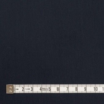 コットン&ポリアミド×無地(ダークネイビー)×サージ_全2色_イタリア製 サムネイル4