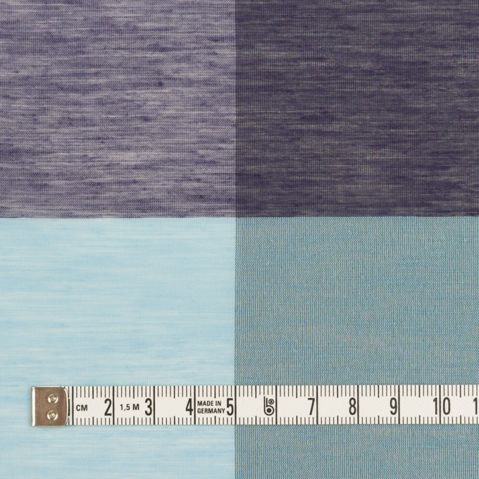コットン&ポリエステル混×チェック(サックス&パープル)×ボイル イメージ4