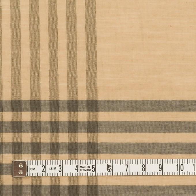 コットン&ポリエステル×チェック(ベージュ&グレー)×ボイルワッシャー_パネル イメージ4