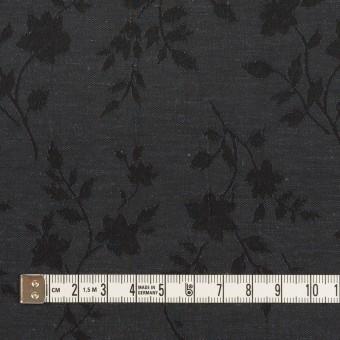 ポリエステル&キュプラ×フラワー(チャコール)×ポプリンジャガード サムネイル4