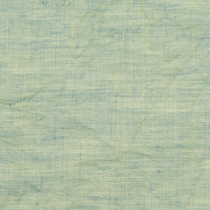 コットン×無地(シーグリーン)×ボイルワッシャー_全4色 イメージ1
