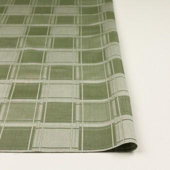 コットン×チェック(アイビーグリーン)×風通織(二重織) サムネイル3