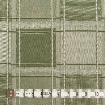 コットン×チェック(アイビーグリーン)×風通織(二重織) サムネイル4