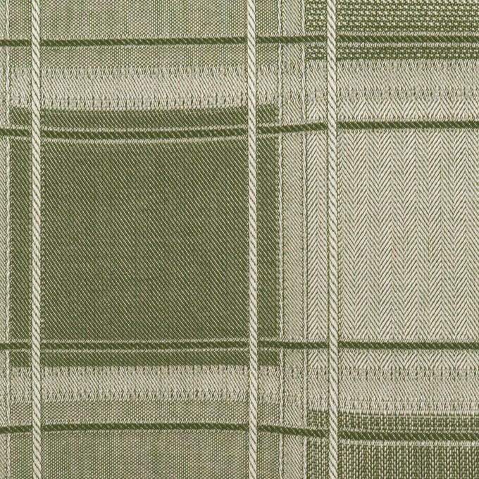 コットン×チェック(アイビーグリーン)×風通織(二重織) イメージ1