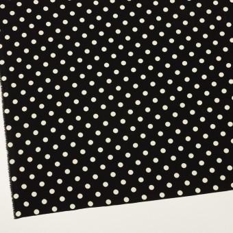 ポリエステル×水玉(ブラック)×ファイユ サムネイル2