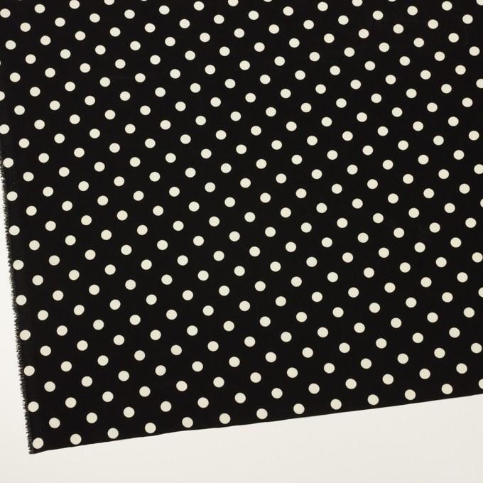 ポリエステル×水玉(ブラック)×ファイユ イメージ2