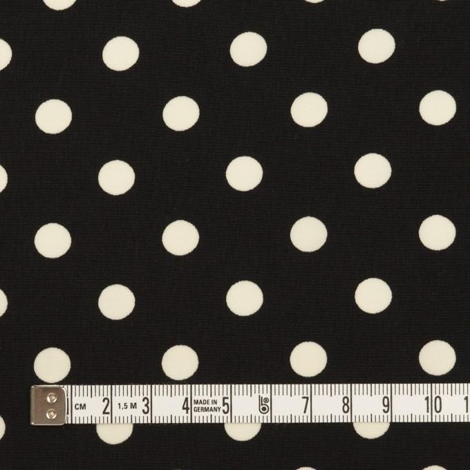 ポリエステル×水玉(ブラック)×ファイユ イメージ4