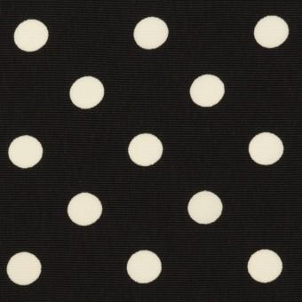 ポリエステル×水玉(ブラック)×ファイユ サムネイル1