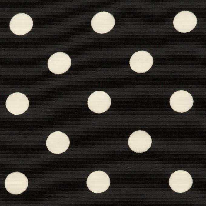 ポリエステル×水玉(ブラック)×ファイユ イメージ1
