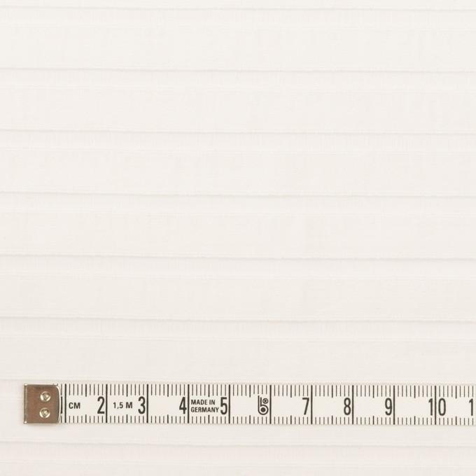 コットン&ポリエステル×ボーダー(オフホワイト)×オーガンジー・ジャガード_全2色 イメージ4
