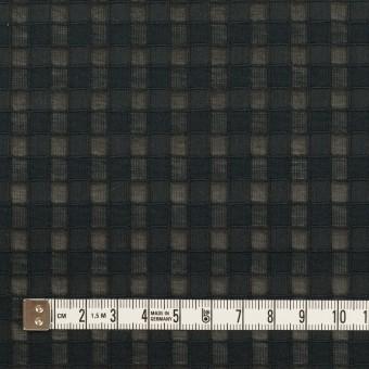 コットン&シルク×チェック(ブラック)×オーガンジー・ジャガード サムネイル4