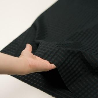 コットン&シルク×チェック(ブラック)×オーガンジー・ジャガード サムネイル5