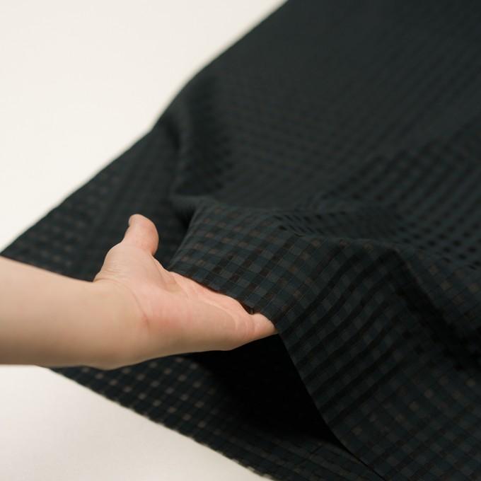 コットン&シルク×チェック(ブラック)×オーガンジー・ジャガード イメージ5