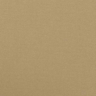 コットン&ポリウレタン×無地(カーキ)×チノクロス・ストレッチ