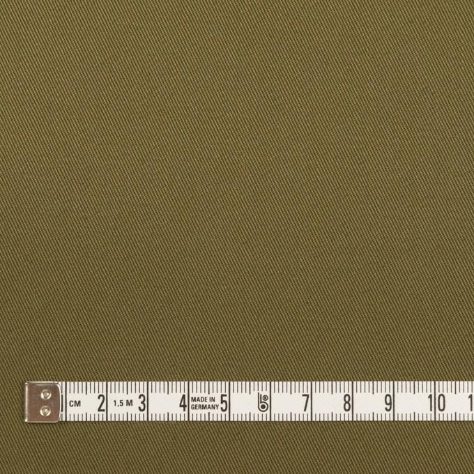 コットン×無地(ダークカーキグリーン)×チノクロス イメージ4