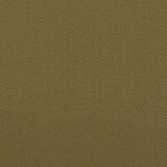 コットン×無地(ダークカーキグリーン)×チノクロス