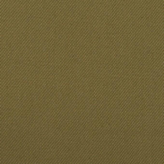 コットン×無地(ダークカーキグリーン)×チノクロス イメージ1