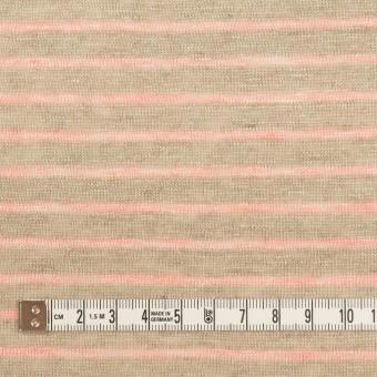 リネン×ボーダー(オートミール&サーモン)×天竺ニット_全2色 サムネイル4