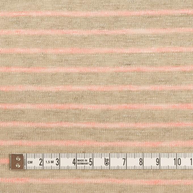 リネン×ボーダー(オートミール&サーモン)×天竺ニット_全2色 イメージ4