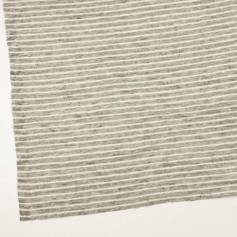 リネン×ボーダー(杢グレー&オフホワイト)×天竺ニット_全2色 サムネイル2