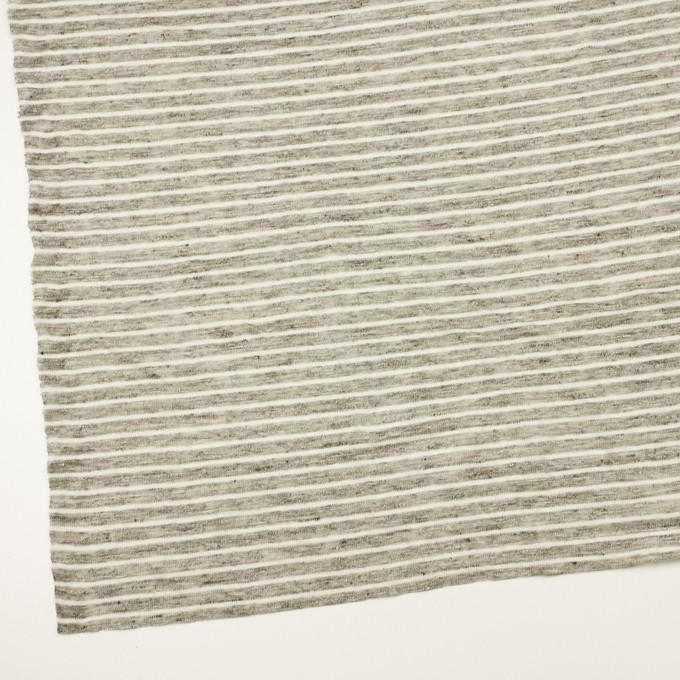 リネン×ボーダー(杢グレー&オフホワイト)×天竺ニット_全2色 イメージ2