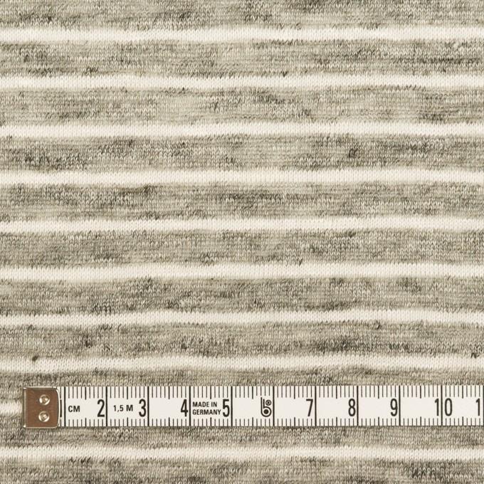 リネン×ボーダー(杢グレー&オフホワイト)×天竺ニット_全2色 イメージ4