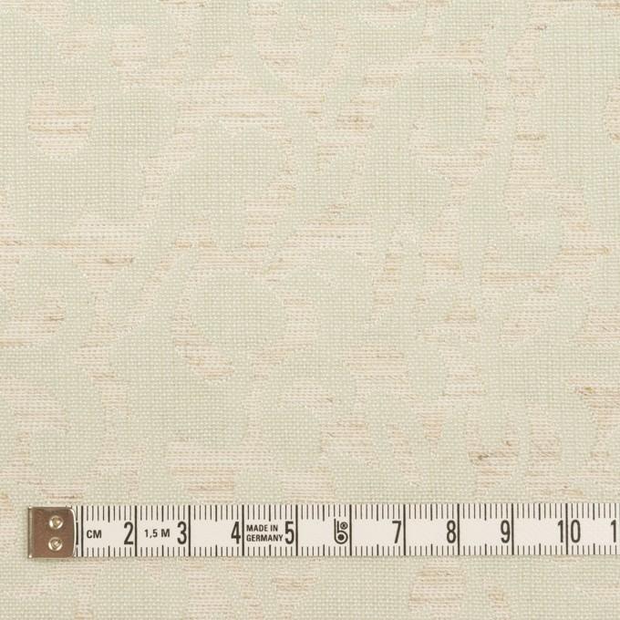 ポリエステル&リネン×幾何学模様(グレイッシュベージュ&ミント)×フクレジャガード イメージ4