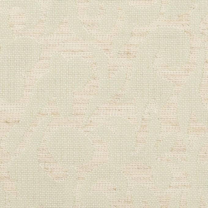 ポリエステル&リネン×幾何学模様(グレイッシュベージュ&ミント)×フクレジャガード イメージ1