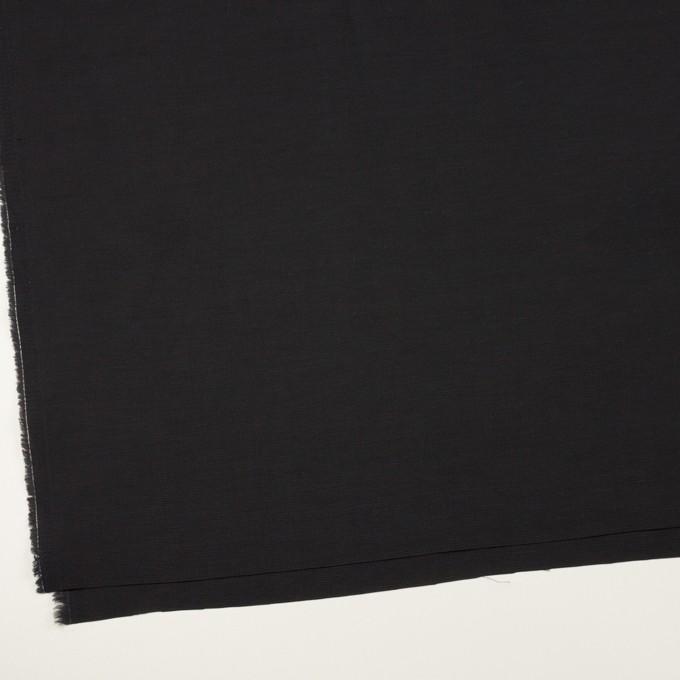 コットン&キュプラ×無地(ブラック)×かわり織_イタリア製 イメージ2