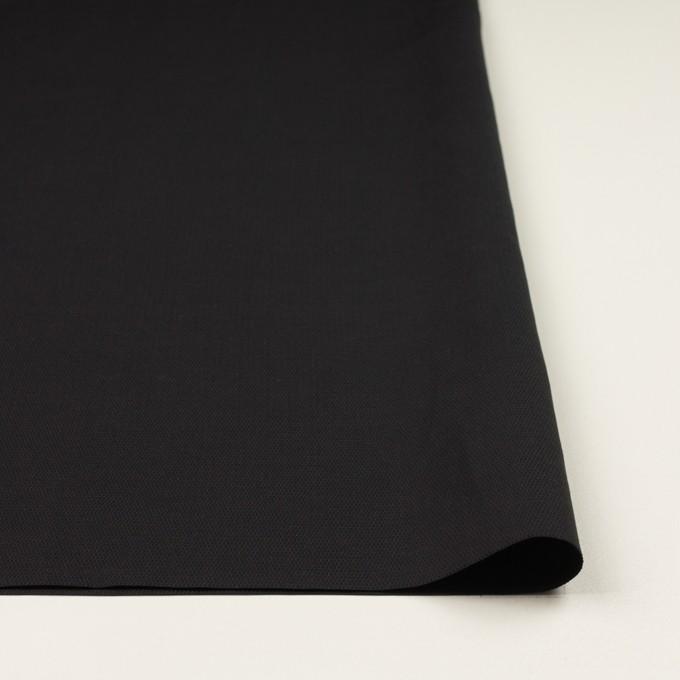 コットン&キュプラ×無地(ブラック)×かわり織_イタリア製 イメージ3