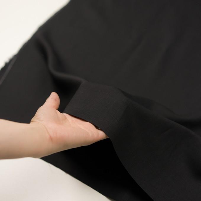 コットン&キュプラ×無地(ブラック)×かわり織_イタリア製 イメージ5