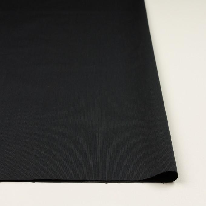 コットン&ポリエステル混×無地(チャコール)×ポプリンストレッチ_イタリア製 イメージ3