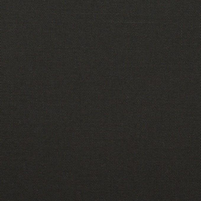 コットン&ポリウレタン×無地(ブラック)×ギャバジン・ストレッチ イメージ1