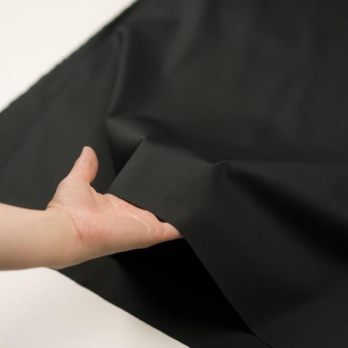 コットン&ポリウレタン×無地(ブラック)×ギャバジン・ストレッチ イメージ5