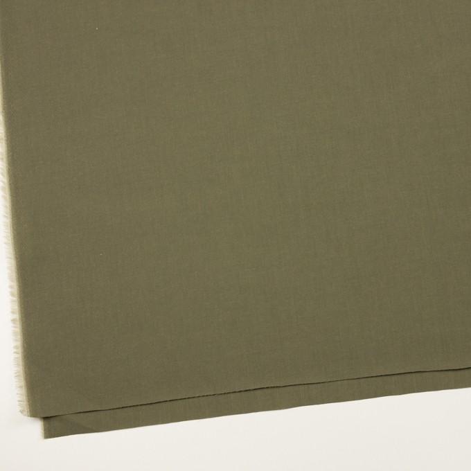 コットン&テンセル×無地(アッシュカーキグリーン)×シャンブレー・ローン_全4色 イメージ2
