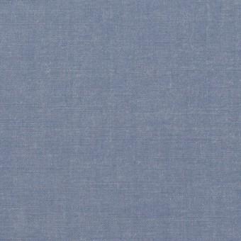 コットン&テンセル×無地(アッシュブルー)×シャンブレー・ローン_全4色